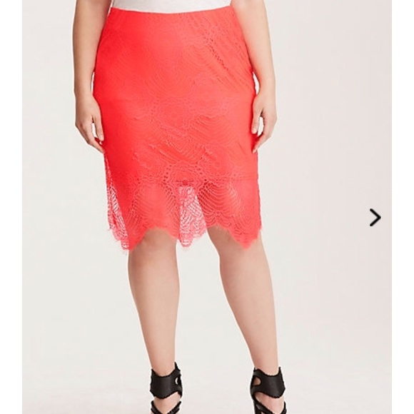 238846d910 Torrid hot pink pencil skirt 1. Lace over lining. M_5a62524b2c705d0efbe2b052
